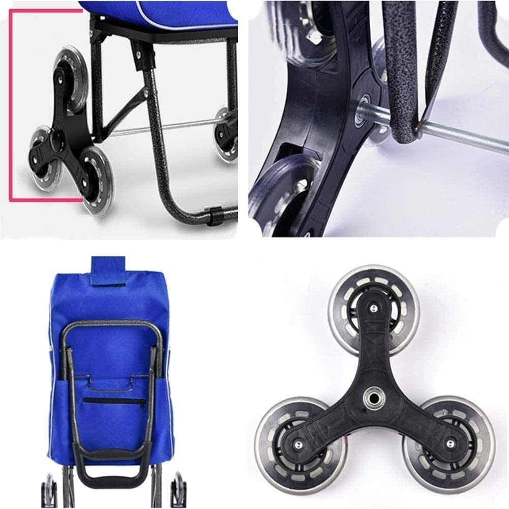 Color : B CNMYDZ Old Pers on Shopping Trolleys,Shopping Cart Loading Cart Small Pull Cart Home Trolley Car Trolley Climbing Stairs Folding Portable Pull Cart Trailer,E,E