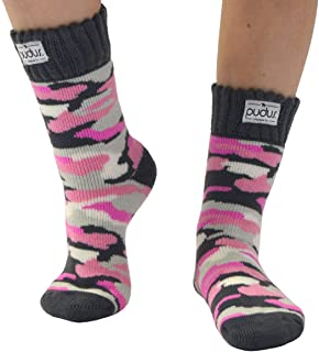 Womens Warm Short Boot Socks W 6-10 Fleece-Lined Crew-Length Winter Socks