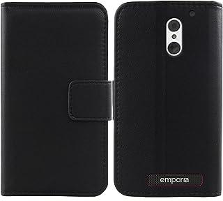 Mengtu Echt lederen beschermhoes voor Emporia Smart.4 / Smart.S4 12,7 cm (5 inch), Premium Case Cover Flip Case, Beschermh...
