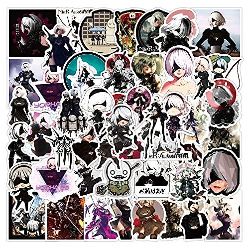 DSSK 50 Uds Nuevas Pegatinas de Dibujos Animados Me Chanica Juego Lage Graffiti Pegatinas Equipaje Impermeable Laptop Scooter Taza de Agua Pegatinas para Casco