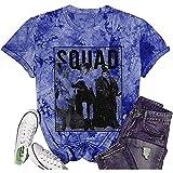 jiabushu shop Camiseta de Halloween para mujer, divertida Sanderson Sisters, Tie Dye Purple, Bronce.,