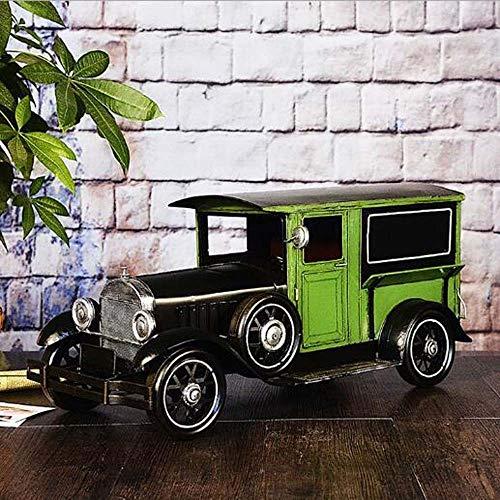 QCSMegy Decoración de la habitación Retro Classic Cars Modelo de coche, muebles de hierro forjado para ventana de bar, accesorios para el hogar suave (L * W * H) 62 * 28 * 28 cm