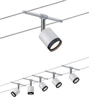 Paulmann 3981 TubeLED Système d'éclairage à spots sur câble - Set d'éclairage par fil sous tension avec 5 lampes suspendue...
