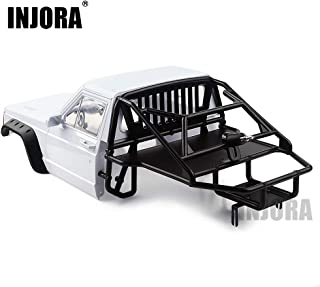 INJORA RC Cherokee Body Cab & Back-Half Cage for 1/10 RC Crawler Traxxas TRX4 Axial SCX10 90046 (Cab&Cage)