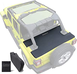 Shadeidea Jeep Wrangler JL Tonneau Cover, JLU 4 Door Rear Trunk Ton Cover, Cargo Vinyl Tailgate Cover for (2018-Current) New Model Robicon Sahara Sport S (Black) - 3 Years Lasting