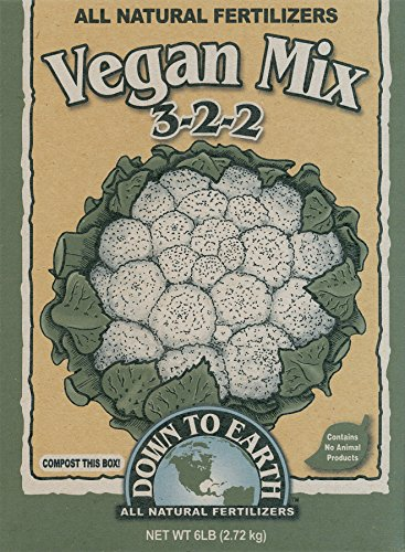 Down To Earth 6-Pound Vegan Mix 3-2-2 7822