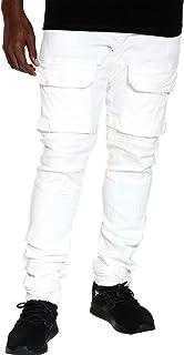 Men's Multi Cargo Pocket Skinny Jean - White