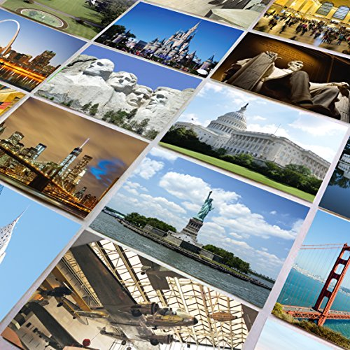 US National Monuments postcards pack - Set of 25 individual postcards featuring America�s most famous national monuments and man made landmarks