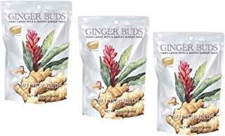 Butterfields Candy - Gourmet, Old-Fashioned Ginger Buds Hard Candy, 2.5 oz (3 Pack) | Gluten Free | Made with 100% Real, Pure Cane Sugar | Handcrafted in the USA | Resealable Bag
