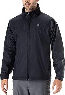 Men's Waterproof Rain Jacket Raincoat Hideaway Hood Lightweight Packable Poncho