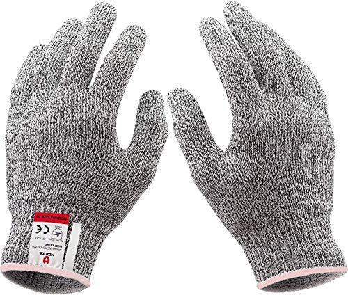 JADE KIT 2 Paar Schnittfeste Handschuhe, Anti-Schnitt Handschuhe der Stufe 5 mit EN 388-Zertifizierten Schutzhandschuhe Schnittschutz für Küche, Baustelle, Mandolinenschneiden & Holzschnitzen, L