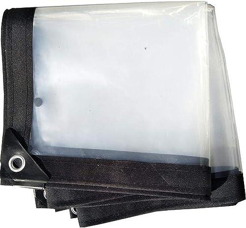 XRFHZT Bache Transparente imperméable à l'eau de Tarpaulin pour l'abri de Serre Chaude, Tissu de Tente de Bateau de Plante,4mX5m