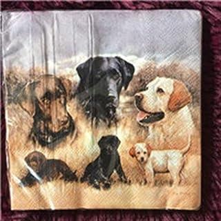 HXQCZ 25cm vintage paper napkins tissue cute animal dog cat horse fish deer oil craft decoupage wedding kid birthday party...