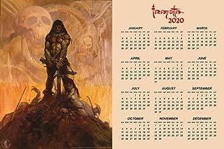 Barbarian by Frank Frazetta 2020 Calendar Poster 24x36 Inch