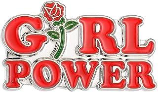 Generico Spilla Pin Smaltata da Donna con Femminista Slogan Girl Power - 4 x 2,2 cm