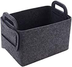 Felt Sundries Storage Basket Foldable Household Laundry Basket with Handle for Dirty Clothes