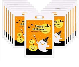 Halloween Trick or Treat Bags,50 Packs Plastic Candy Bags for Party Favors, Snacks, Decoration, Children Arts & Crafts, Ev...
