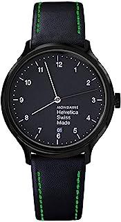 Mondaine - Helvetica Regular - Reloj de Cuero Negro para Hombre y Mujer,MH1.R2221.LB, 40 MM