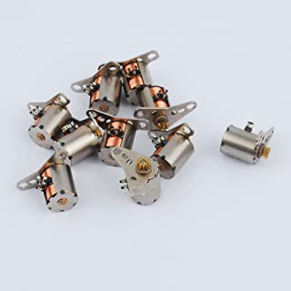 10Pcs Dia 6mm 1.5-3V dc 2 Phase 4 Wire Micro Stepper Motor with Copper Gear Dia 1mm Output Shaft for DIY Mini Robot Or Camera