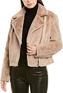 PIPER & JANE Womens Cozy Bomber Jacket, L, Brown