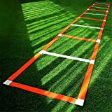 Escala *Agility, *Speed *Ladder 12 Seccions 5.1M per a futbol, Fitness, Esports, Handbol, futbol per a Entrenament Esportiu a l'aire lliure