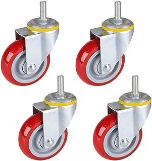 Swivel Furniture Casters Zware Industriële Caster Bearing Dual Lock Geen lawaai 600lbs Laadvermogen voor Trolley Grootte N...