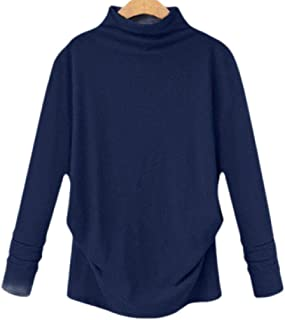 OTW Women's Tops Long Sleeve Fashion Loose Fit Pullover Plain Tee Shirt Blouse Top