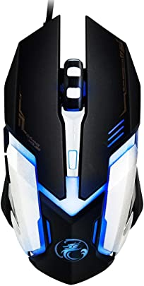 XIXI LYX V6 LED buntes Licht USB Tasten 3200 DPI Wired Optical Gaming Mouse for Computer PC Laptop  schwarz   Farbe Black