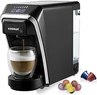 CHULUX Machine à café à capsules 1400 W de 50 ml à 260 ml Réservoir d'eau amovible de 0,8 L avec Nespresso et Dolce Gusto ...