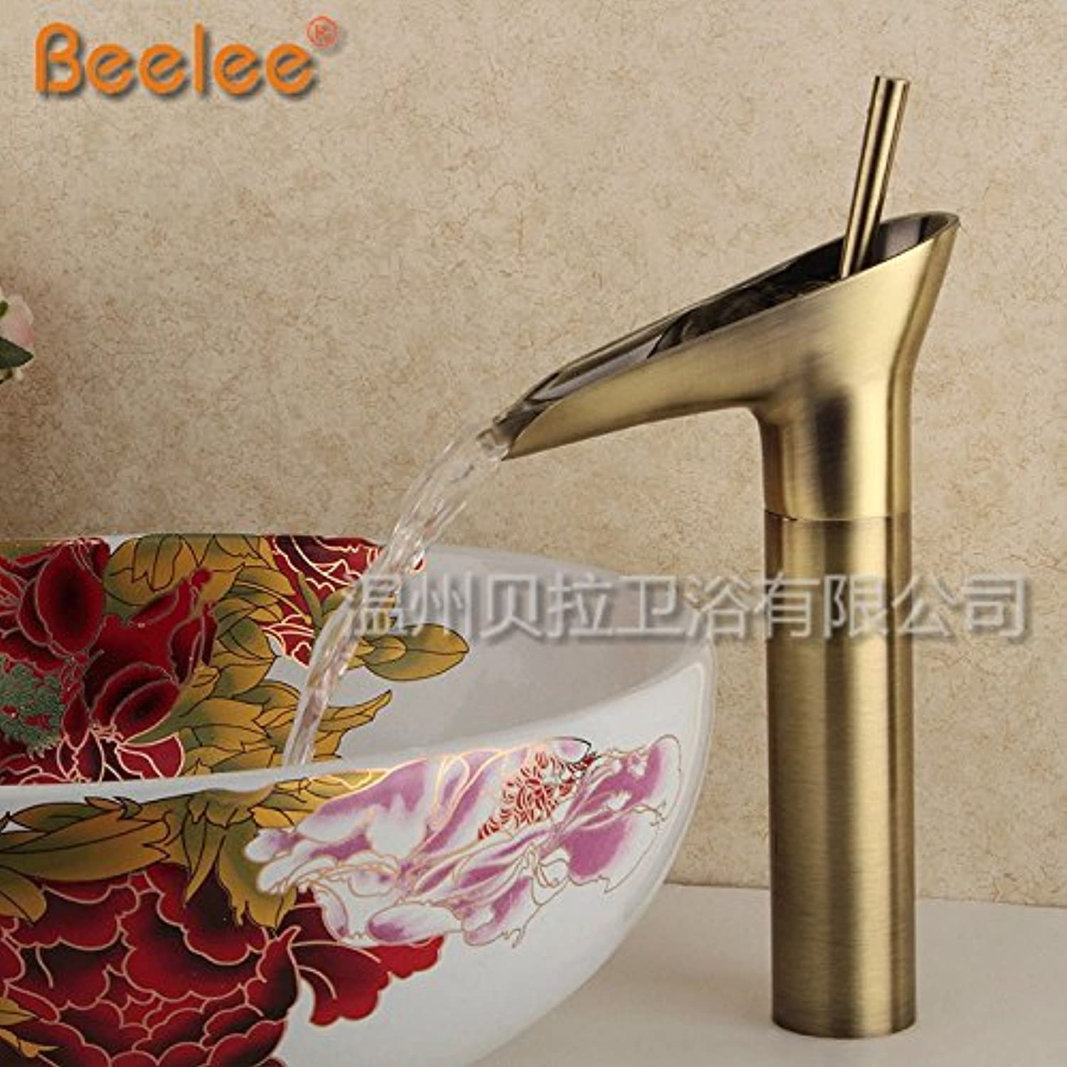 Commercial Single Lever Pull Down Kitchen Sink Faucet Brass Nordic Modern Minimalist Retro gold Stainless Steel Waterfall Pure Copper Bathroom Basin Faucet Hotel Kitchen Bathroom Dining Room