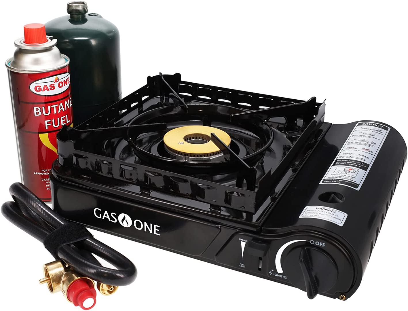 Gas ONE 2021 GS-3900P New Dual Excellence Fuel Propane Stove Butane Portable or
