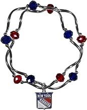 Siskiyou NHL unisex-adult Crystal Bead Bracelet