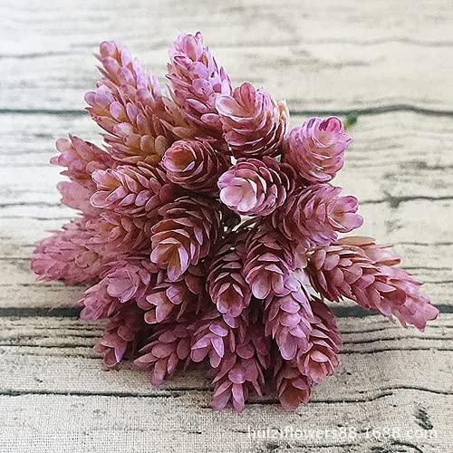 xy Flor Falsa Conos simulación Hierba Fondo Verde Planta plástico simulación Hierba ecológico amistoso plástico simulación piña Hermosas Flores Falsas (Color : Purple N2)