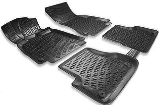Elmasline Design 3D Gummimatten Set für Audi A7 (C7) 2010 2018 | Extra hoher 5cm Rand