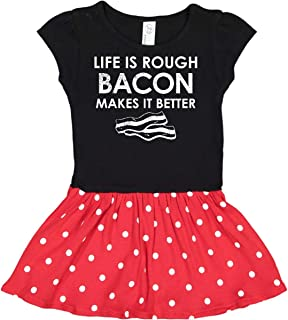 inktastic Life is Rough Bacon 2 Toddler Dress