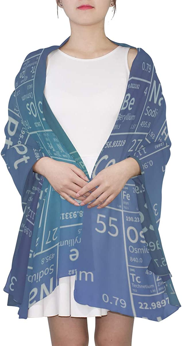 Mens Scarfs Fashion Chemical Elements Periodic Table Large Scarfs For Women Lady Scarf Lightweight Print Scarves Lightweight Women Scarf Print Scarf Women