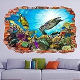 MXLYR Pegatinas de pared Pegatinas de arte de pared submarinas calcomanías murales acuario de peces marinos dormitorio de los niños