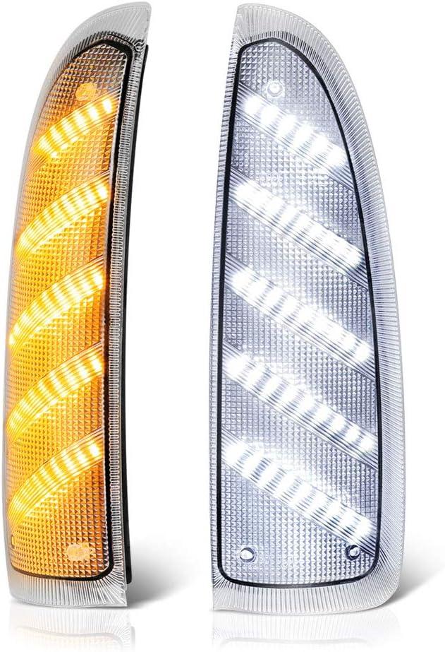 VIPMOTOZ Switchback Full White Amber Boston Mall Side Max 60% OFF LED Lam Light Marker