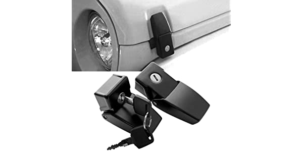 American 4wheel Front Black Anti-Thief Security Pair Hood-Lock Latches kit 2/&4 Doors Jeep Wrangler /& Unlimited 2007-2018 Rubicon Sahara Sports JK JKU
