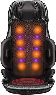 Back and Neck Massager Shiatsu Massage Seat, Vibration Massage Seat Cushion, Massager with Heat, Full Body Massager Cushio...