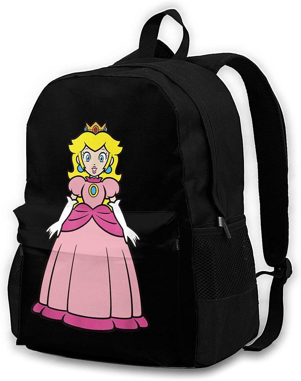 Princess Peach Backpack Fashion Laptop School New Free Shipping Student Unisex Bag 1 year warranty