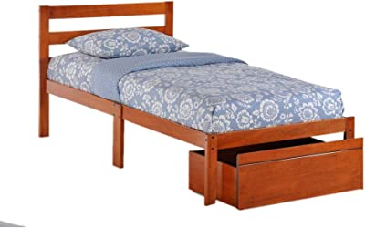 Night & Day Furniture Bed-to-Go Cherry Finish Bed Frame, Twin