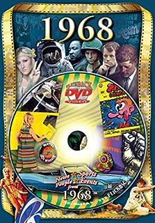 Flickback 1968 Flickback DVD Greeting Card - Happy 51st Birthday or 51st Anniversary