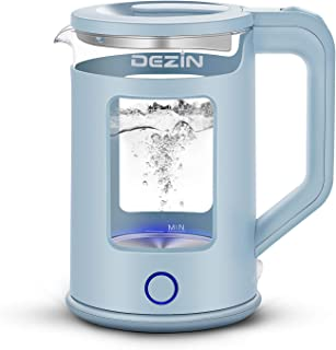 Dezin Electric Kettle, Electric Tea Kettle with Bicolor LED and Keep Warm Function, 1.5L Double Wall Water Kettle with Aut...