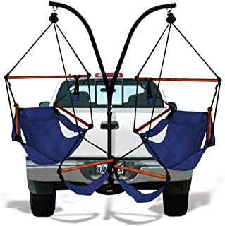 Trailer Hitch Stand and 2 Blue Hammaka Chairs Combo - WD