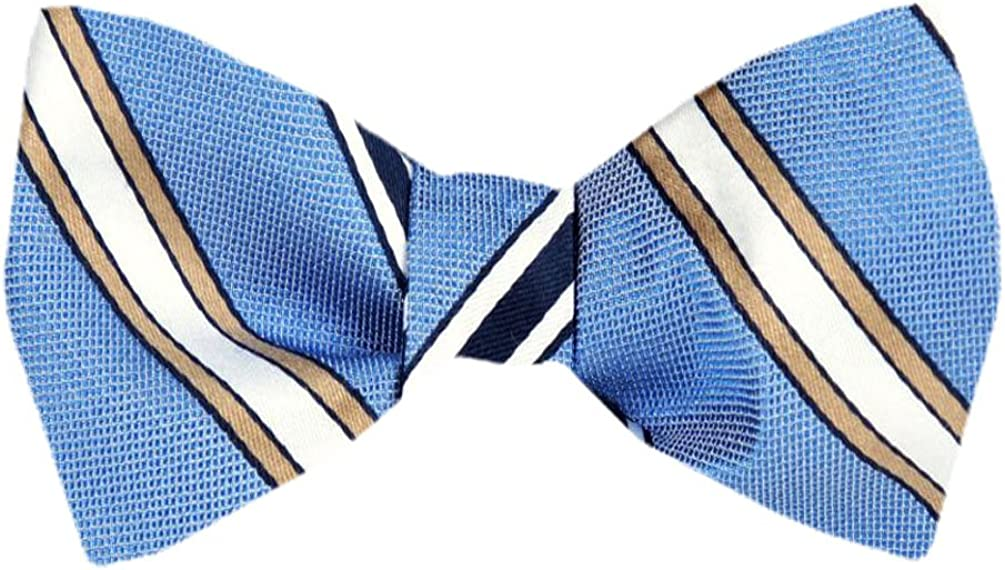 Men's Blue Navy Silk Self Tie Bowtie Tie Yourself Bow Ties