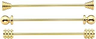 Zysta 3Pcs Silver/Gold Tone Collar Bar Pin Set Mens Shirts Tie Clip Necktie Clasp Lapel Stick Brooch + Gift Box …
