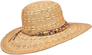 Sun Hat for Women – Cappelli Straworld – Natural Toyo Straw Round Crown Miami Hat