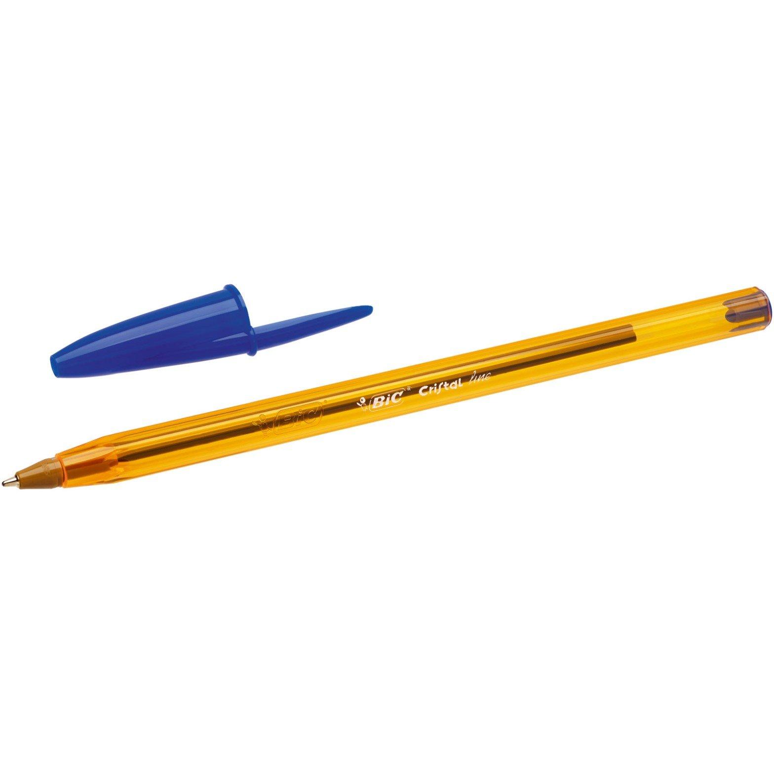 BIC Cristal Original Fine - Bolígrafos punta fina (0.8 mm), Blíster de 15+5 unidades, Colores Surtidos: Amazon.es: Oficina y papelería