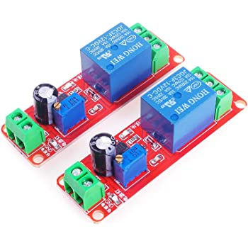 Rouge DC 12V NE555 Module relais de conduction /à retard de relais monostable D/éclencheur Minuterie ajustable Time Shield Electronics Arduino